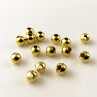 50 Gold Plated round spacer beads 8mm